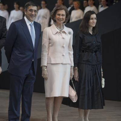 07JUNIO2011 Inauguración Museo Cristóbal Balenciaga en Getaria. Patxi López, S.M.La Reina y Ángeles González-Sinde. Foto: Quintas.
