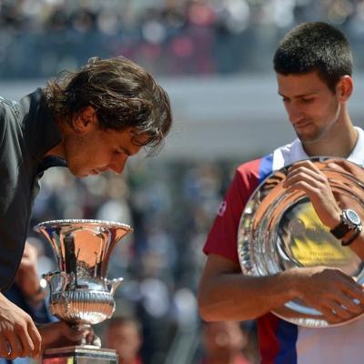 21MAYO2012 Torneo de Roma ganado por Nadal al superar a Djokovic. Foto: Agencia.