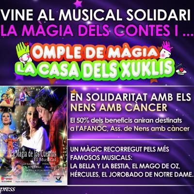 """13ENERO2013 """"La Magia de los cuentos"""" en el Arenas Festival, pero solidaria con los niños enfermos de cáncer."""