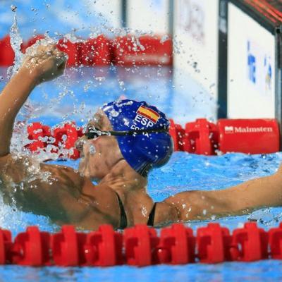 28JULIO2013 España, Francia, Estados Unidos y China protagonistas en el primer día de natación.Melanie Costa.  Foto: Manel Martin.
