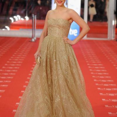 13FEBRERO2011 Aura Garrido, en la alfombra roja de los Premios Goya 2011. Foto: Carlos Álvarez