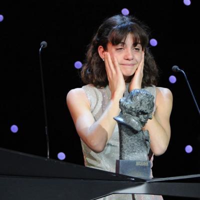 13FEBRERO2011 Marina Comas (Goya mejor actriz revelación por Pa negre), ceremonia entrega de los Goya 2011.Foto: Carlos Álvarez
