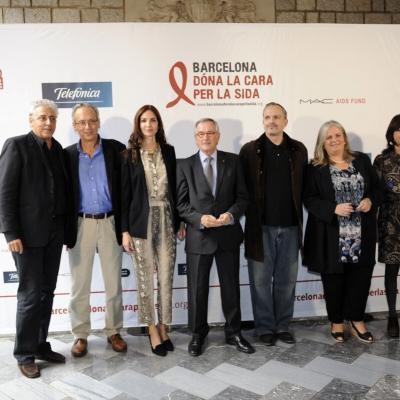 22OCTUBRE2012 Presentación en el Ayuntamiento de Barcelona, de la Gala contra el Sida. Foto: Manel Martin.