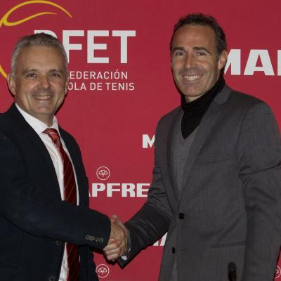 28DICIEMBRE2011 Presentación de Álex Corretja como nuevo capitán de Copa Davis, por dos temporadas. Foto: RFET.