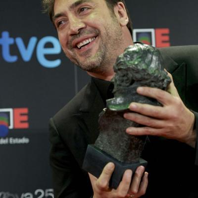 13FEBRERO2011 Javier Bardem (Goya a la mejor interpretación masculina protagonista por Biutiful), ceremonia entrega de los Goya 2011.