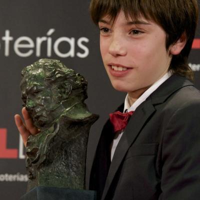 13FEBRERO2011 Francesc Colomer (Goya al mejor actor revelación), ceremonia entrega de los Goya 2011.