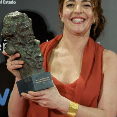 13FEBRERO2011 Nora Navas (Goya a la mejor interpretación femenina protagonista por Pa negre), ceremonia entrega de los Goya 2011.