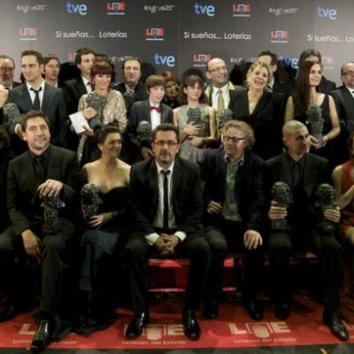 13FEBRERO2011  Todos los galardonados en la ceremonia de los Goya 2011.