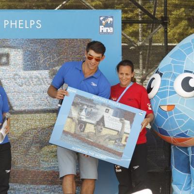 28JULIO2013 España, Francia, Estados Unidos y China protagonistas en el primer día de natación. Michael Phelps. Foto: BCN2013.