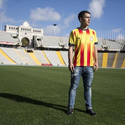 25NOVIEMBRE2013 Bojan Krkic, ilusionado con el partido de Navidad de la Selección, en l'Estadi Olímpic.