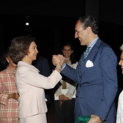 07JUNIO2011 Inauguración del Museo Cristóbal Balenciaga en Getaria. S.M.La Reina y Jaime de Marichalar. Foto: Agencias.