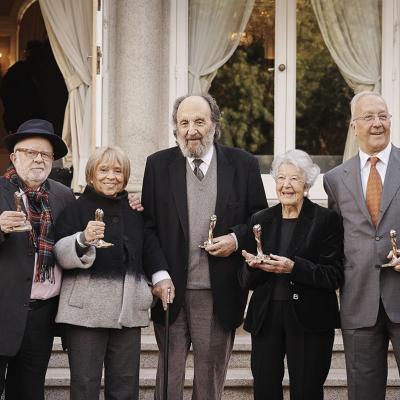 13ENERO2016 Nuevos Miembros de Honor de l'Acadèmia del Cinema Català. Foto: Acadèmia del Cinema Català.