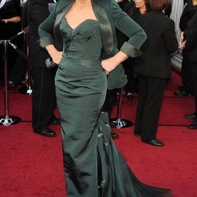 26FEBRERO2012 Alfombra roja de los Oscars de Hollywood 2012. Glenn Close. Foto: Agencia.