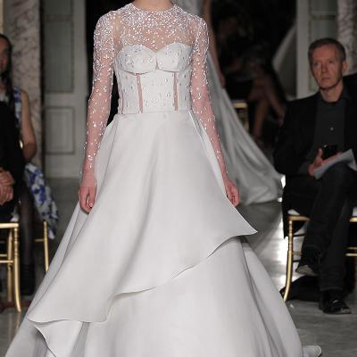 26ABRIL2017 Ángel Sánchez presenta su colección Rose Mist en la Barcelona Bridal Night.