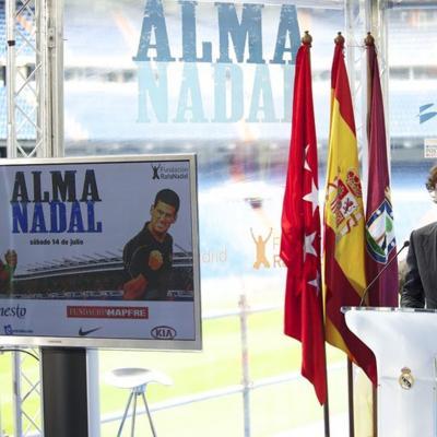 07MAYO2012 Presentación del partido de tenis benéfico entre Nadal y Djokovic, que se jugará en el Bernabéu, el próximo día 14 de julio. Foto: TenisWeb.