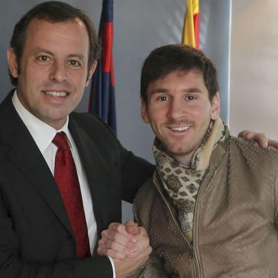 07FEBRERO2013 Renovación de Leo Messi con el Barça hasta 2018. Foto: Agencia.
