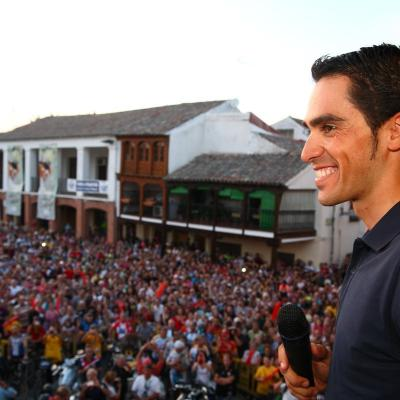 10SEPTIEMBRE2012 Alberto Contador ofreció a su pueblo el triunfo de La Vuelta. Foto: Ayuntamiento de Pinto.