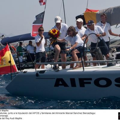 16AL21JULIO2012  31 Copa del Rey Audi Mapfre, en Palma de Mallorca.  Homenaje almirante Marcial Sánchez Barcáiztegui.