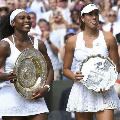 11JULIO2015 Garbiñe Muguruza, finalista en Wimbledon. Foto: Agencia.