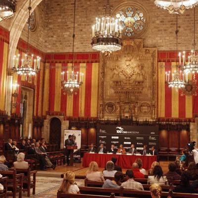 19SETIEMBRE2011 Presentación del CSIO en su centenario en el Salón de Cent del Ajuntament de Barcelona. Foto: Manel Martin.
