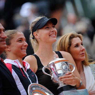 09JUNIO2012  Maria Sharapova, ganó su primer Roland Garros, volvió al número 1 de la WTA y completó los cuatro Gand Slam. Foto: Agencias.