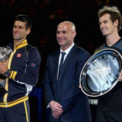 27ENERO2013 Novak Djokovic  campeón en el Open de Australia al vencer a Andy Murray. Foto: Ben Solomon.
