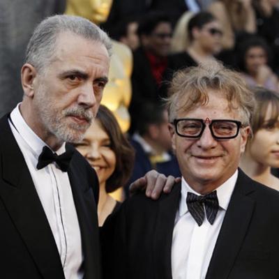 26FEBRERO2012 Alfombra roja de los Oscars de Hollywood 2012. Fernando Trueba y Javier Mariscal.Foto: Agencia.