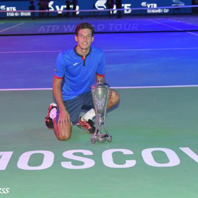 23OCTUBRE2016 Segundo título para Pablo Carreño. Foto: Kremlin Cup.