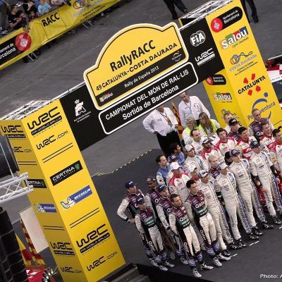 27OCTUBRE2013 Ogier campeón del Rally RACC y del Mundial.  Primer día presentación equipos.