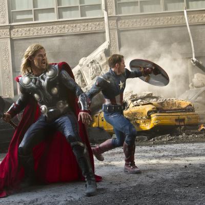 09MAYO2012 Un fotograma de 'Los Vengadores'. Foto: The Walt Disney Company.