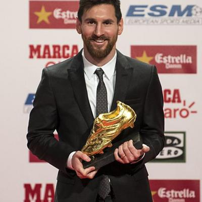 NOVIEMBRE2017 Cuarta Bota de Oro para Leo Messi.