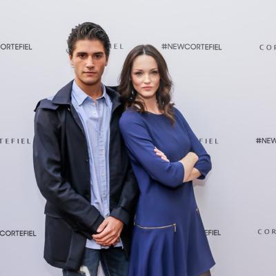 22OCTUBRE015 Vuelve Cortefiel a Barcelona. Marc Forne y Carla Crombie.