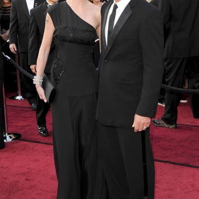 26FEBRERO2012 Alfombra roja de los Oscars de Hollywood 2012. Melanie Griffith y Antonio Banderas. Foto: Agencia.