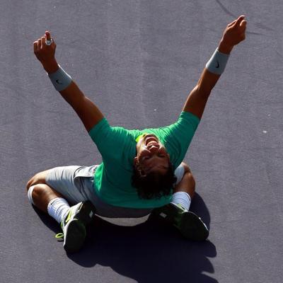 17MARZO2013 Rafa Nadal se adjudicó el Masters 1.000 de Indian Wells. Foto: Agencia.