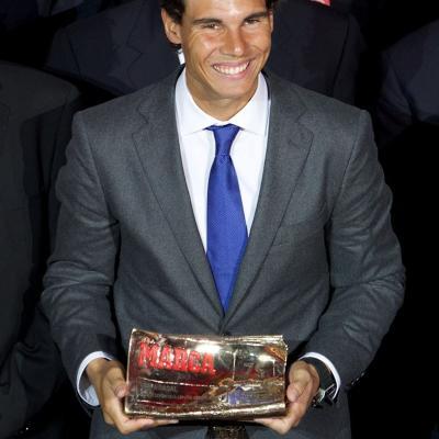 26NOVIEMBRE2013 Rafa Nadal recibió el premio La Leyenda: 75 años de MARCA. Foto: TenisWeb.