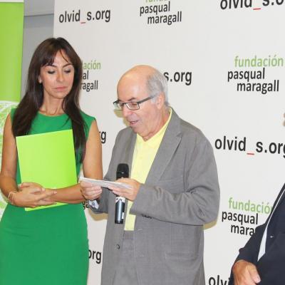 """17SEPTIEMBRE2014 La Fundación Pasqual Maragall presenta su campaña """"Olvidos contra el Alzheimer""""."""