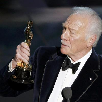 26FEBRERO2012 Alfombra roja de los Oscars de Hollywood 2012. Christopher Plummer.Foto: Agencia.