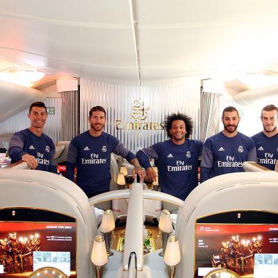 MARZO2017 Emirates presenta el nuevo A380 del Real Madrid.