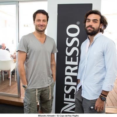 01AGOSTO2013  'My Nespresso Brunch' propone 8 maneras saludables de comenzar el día, con su madrina Vanesa Lorenzo.  Diego Osorio (d) y Fernando Andina.