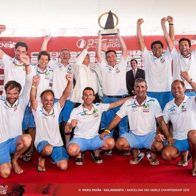 04JULIO2015 Barcelona ORC World Championship. Equipo Movistar, medalla de Oro.Foto: María Muiña.