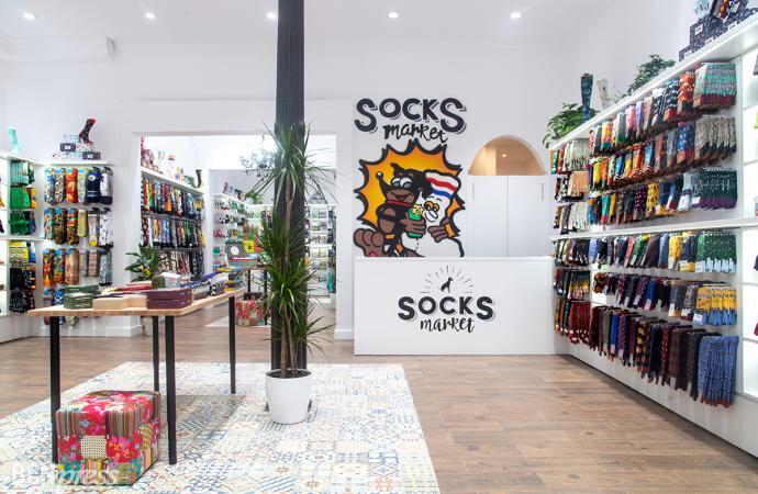 Inauguración de Socks Market la mayor tienda de calcetines de Europa ahora en Barcelona