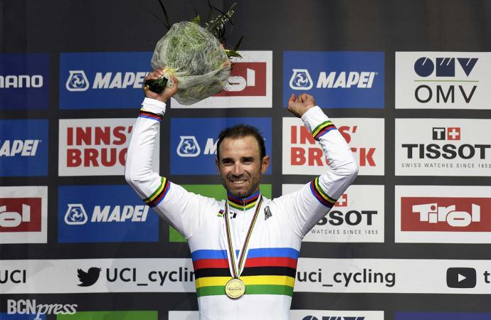 Alejandro Valverde campeón del mundo