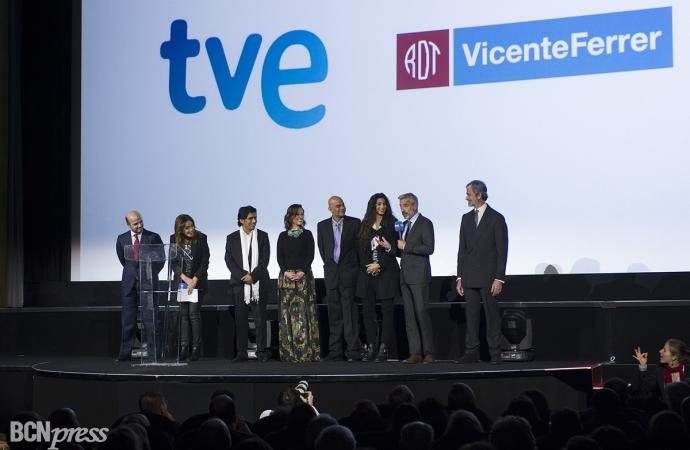 La Reina Sofía en el preestreno de la tv movie 'Vicente Ferrer'