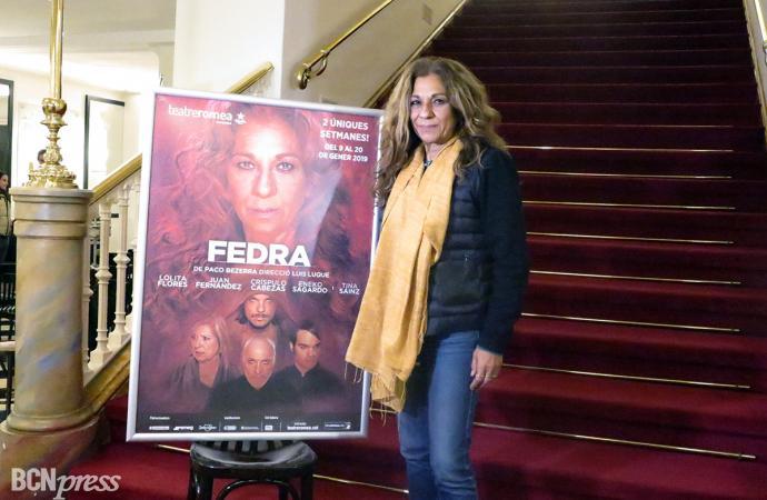 Lolita Flores en el papel de Fedra en el Teatre Romea de Barcelona