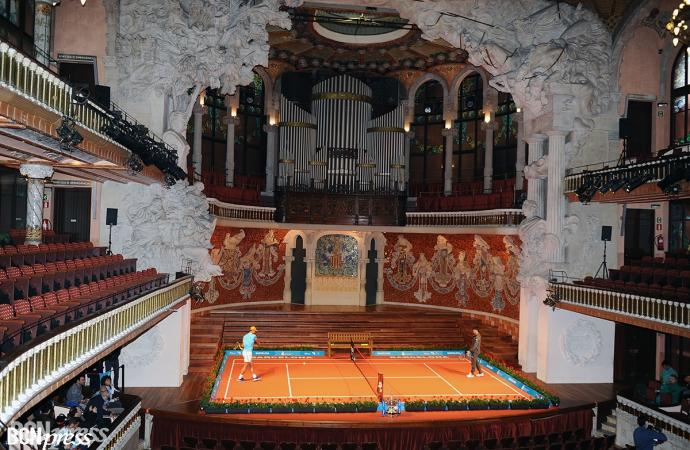 El Palau de la Música escenario promocional del Barcelona Open Banc Sabadell- Trofeo Conde de Godó