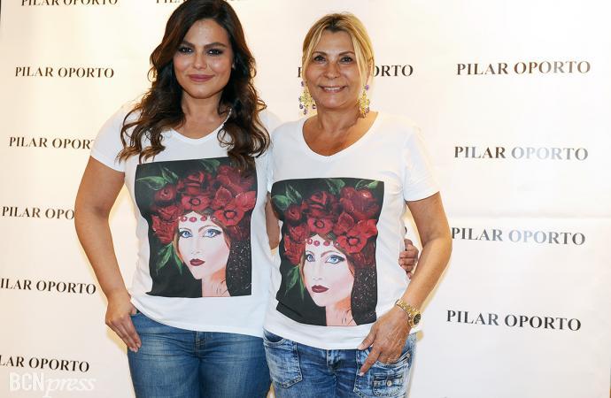 Pilar Oporto ha diseñado dos camisetas solidarias