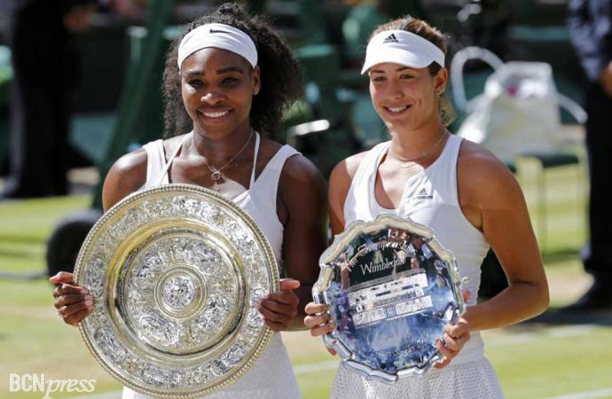 Garbiñe Muguruza, flamante finalista en Wimbledon