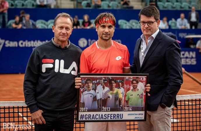 David Ferrer homenaje en el torneo de Buenos Aires