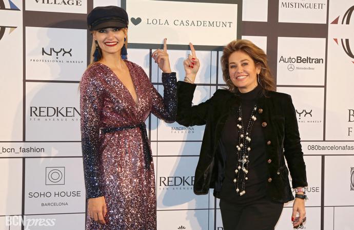 Alba Carrillo volvió a desfilar para Lola Casademunt