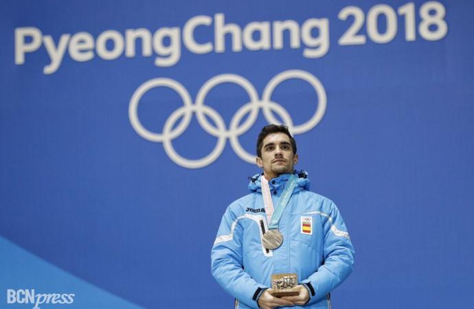 Medalla de bronce de Javier Fernández en Pyeongchang